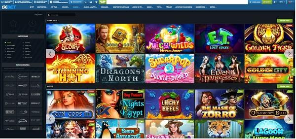 Juegos de casino online en 1xbet