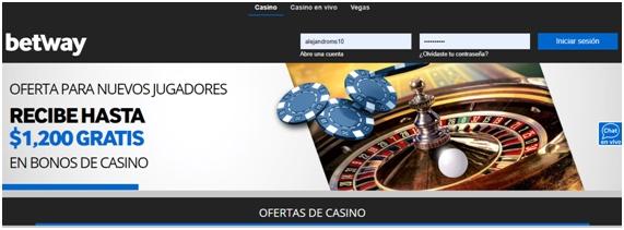 bono bienvenida - Betway casino