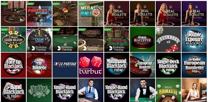 Juegos de mesa de Betsson Casino Online