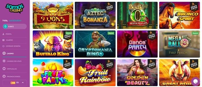 Somos Casino - Oferta de Juegos Casino