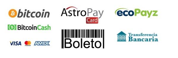 Metodos de pago en Bodog