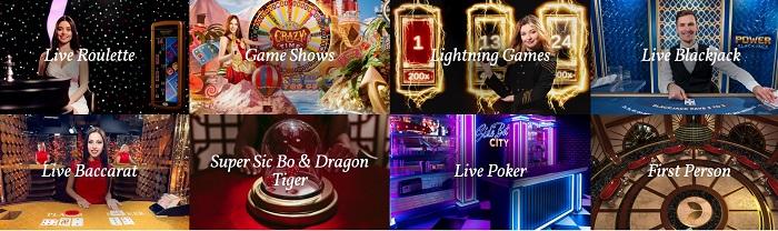 juegos de casino online en vivo de Evolution Gaming