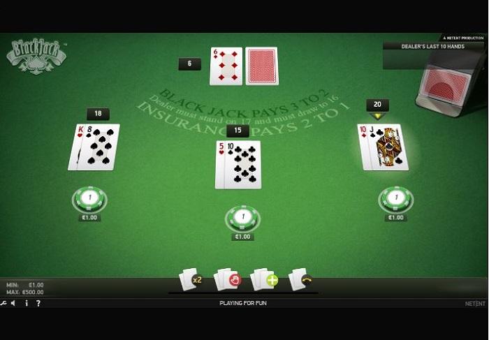 Blackjack Online de NEtEnt