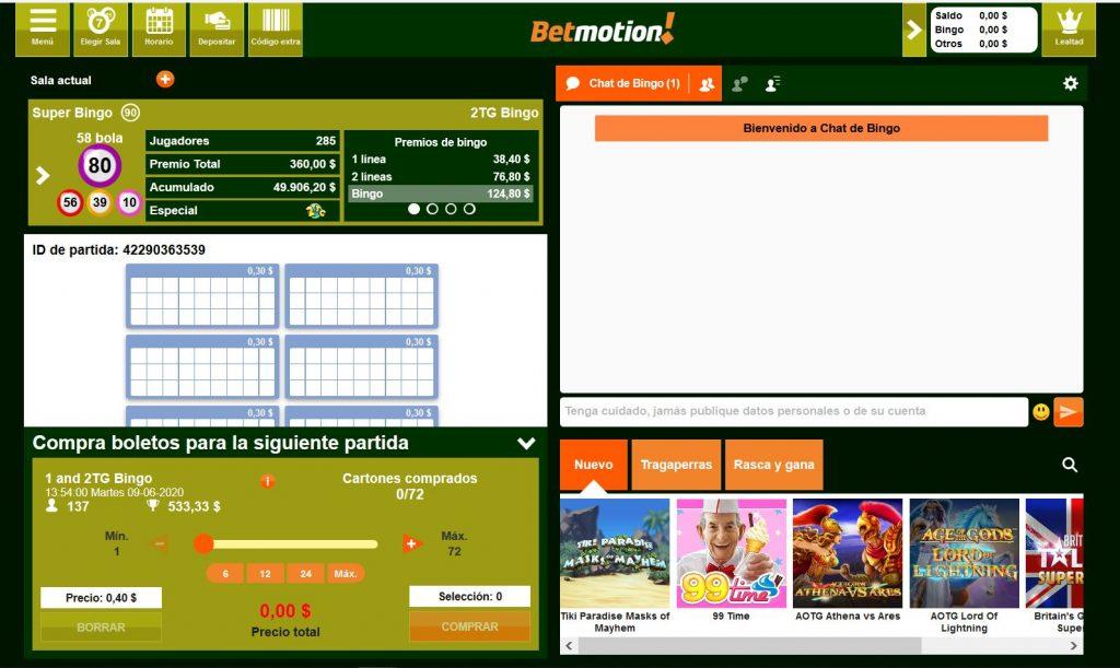 sala bingo online betmotion