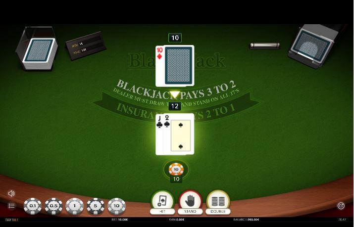 Blackjack online de iSoftbet