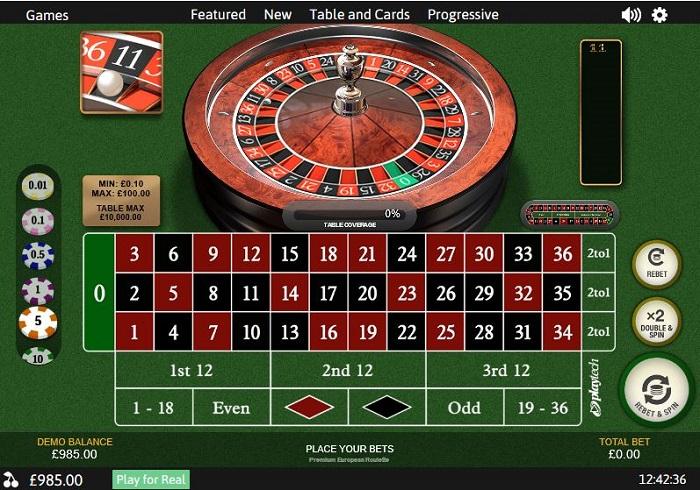 Premium roulette Playtech