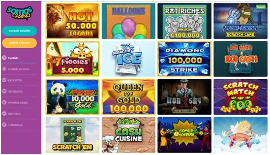 Raspa y Gana en Somos Casino