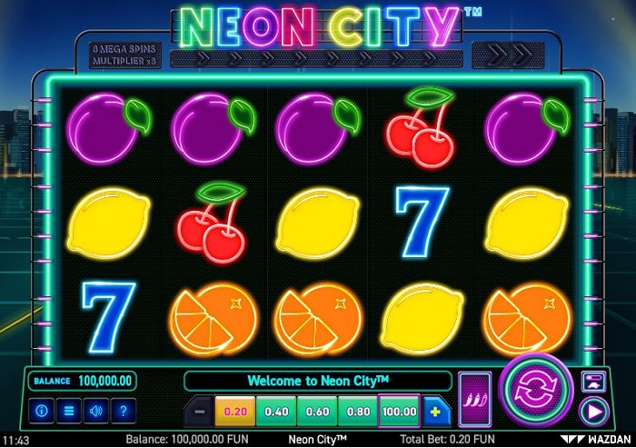 Tragamonedas Neon City de Wazdan