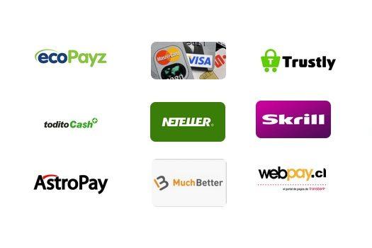 métodos de pago casinos online