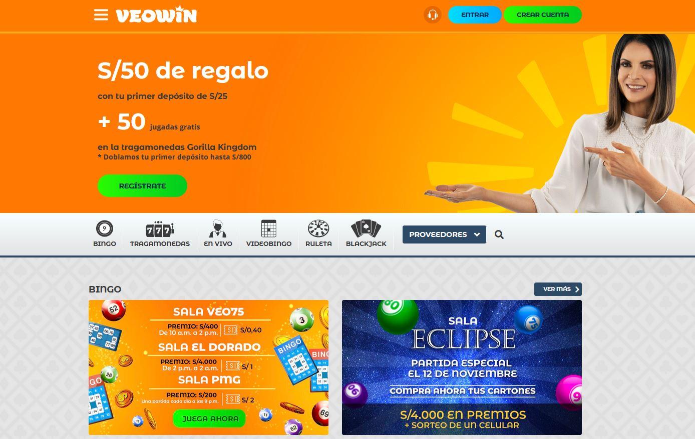 VeoWin Casino Online y Bingo en línea