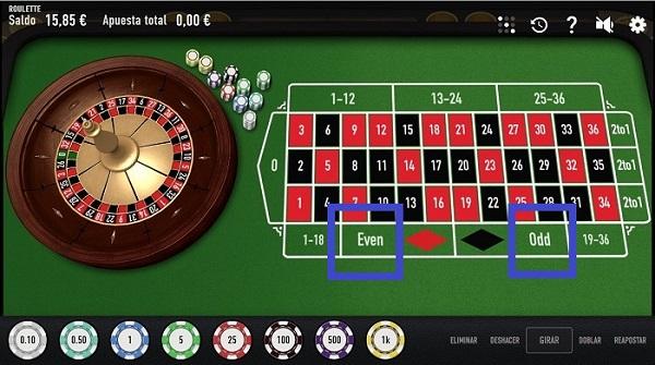 apuestas par o impar en ruleta online