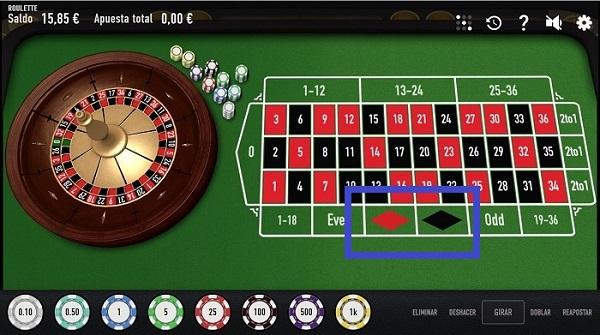 rojos o negros en ruletas